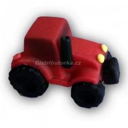 Marcipánový traktor - červený