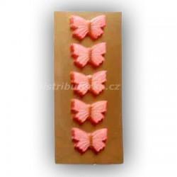 Marcipánový motýlek na dort červený