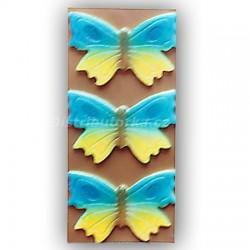 Marcipánový motýl na dort velký modrý